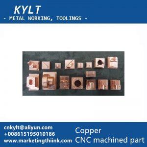 copper machined part