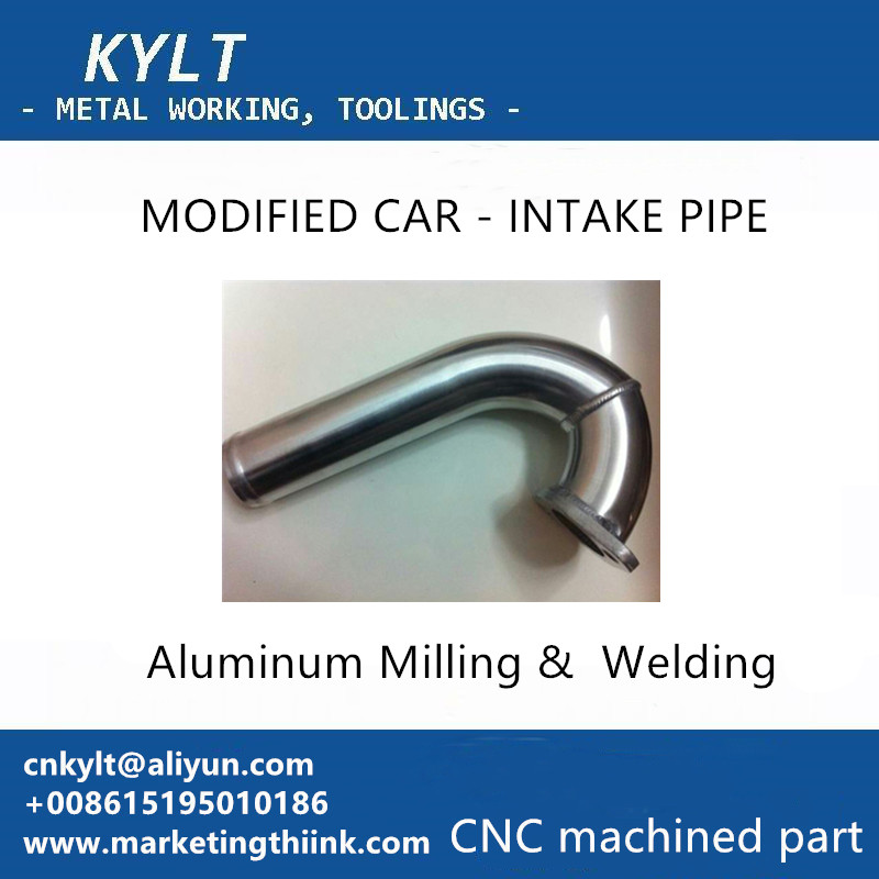 aluminum welding & milling part for intake pipe