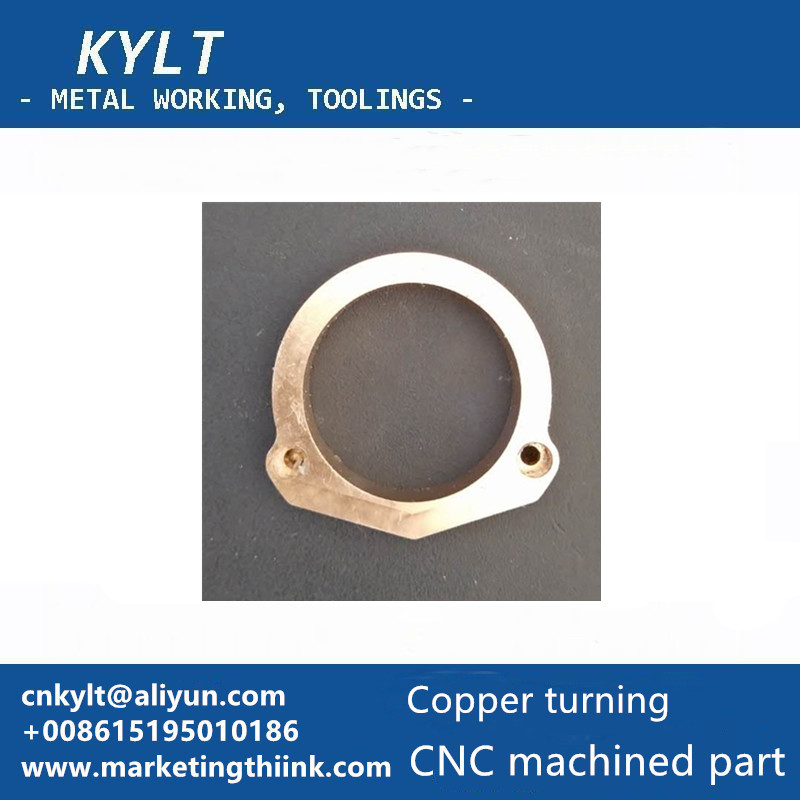 copper CNC turning part