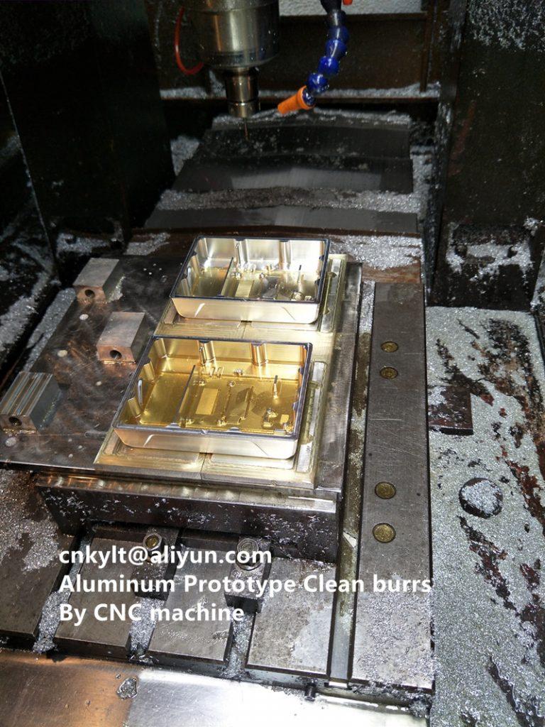 Aluminum Prototype Clean burrs By CNC machine