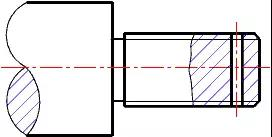 Intersection line is simplified to straight line