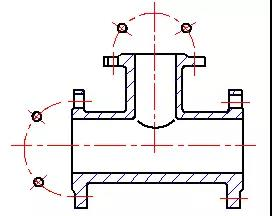 Simplified Drawing Method of Uniform Distribution of Holes on Cylindrical Flange