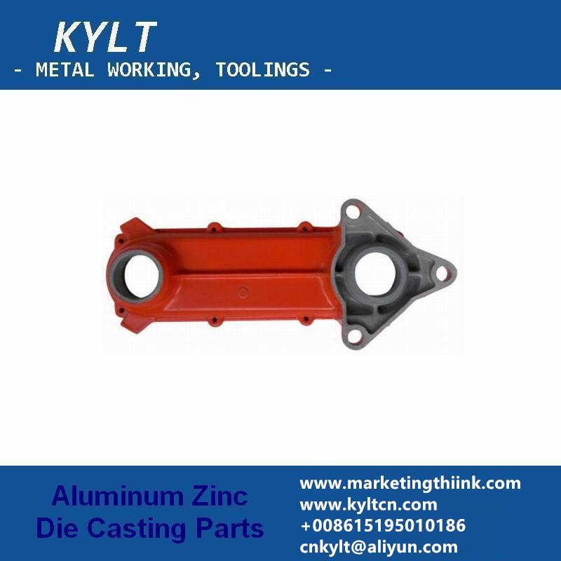 aluminum die casting part with powder coating